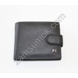 Dr.Bond H- Мужской маленкий кошелек кожаный черный Н 114