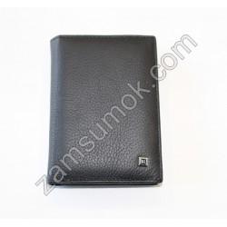 Dr.Bond H- Мужской портмоне кожаный черный Н 125