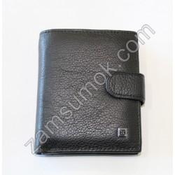 Dr.Bond H- Мужской кошелек кожаный черный Н 131