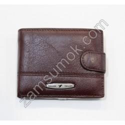 Мужской маленкий кошелек кожаный коричневый Tailian 156 Н09