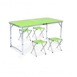 Стол для пикника Folding table +4 chairs N0.4 зеленое