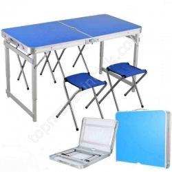 Стол для пикника Folding table +4 chairs NO.1 синее