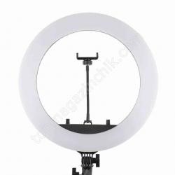 """Светодиодное LED кольцо HQ-18"""" Soft Ring Light 43 см кольцевая большая лед лампа с держателем телефона"""