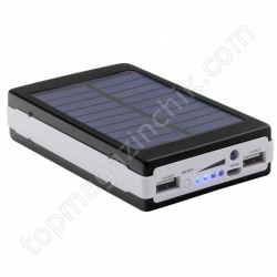 POWER BANK Metal+LED Solar 90000mah (реал. 9600)
