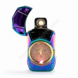 Зажигалка спиральная USB 813 + clock