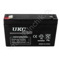 Аккумулятор BATTERY 6V 7A UKC