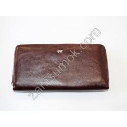 Женский кошелек кожаный на молнии Коричневый Braun Buffel-699