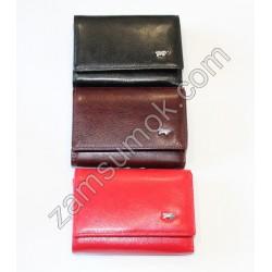 Женский маленький кошелек кожаный коричневый Braun Buffel-631