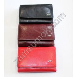 Маленький Женский кошелек кожаный Красный Braun Buffel-606