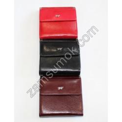 Женский кошелек домик кожаный Коричневый Braun Buffel-6005