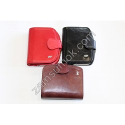 Маленький Женский кошелек кожаный коричневый Braun Buffel-634
