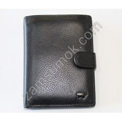 Мужской портмоне с паспортом кожаный Черный Braun Buffel 5117