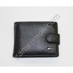 Мужской маленький кошелек кожаный Черный Braun Buffel 5015