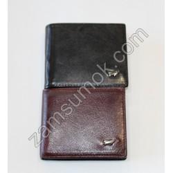 Мужской кошелек кожаный без застежка Черный Braun Buffel 609