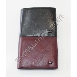 Мужской кошелек кожаный без застежки черный Braun Buffel 641