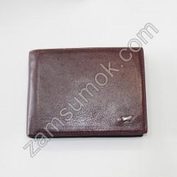 Мужской кошелек кожаный без застежки коричневый Braun Buffel 647