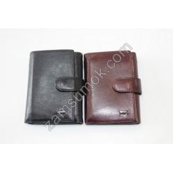 Мужской кошелек кожаный черный Braun Buffel 657
