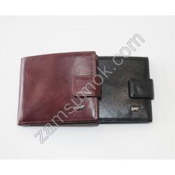 Мужской кошелек с зажимом кожаный черный Braun Buffel 662