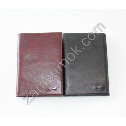 Кожаная обложка на паспорт черная Braun Buffel 694
