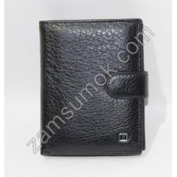 Мужской кошелек кожаный Черный Н119-58 Dr.Bond H