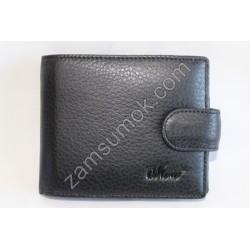 Мужской кошелек кожаный Черный 208К Moro