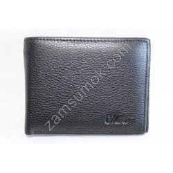 Мужской кошелек с зажимом кожаный Черный 208М Moro