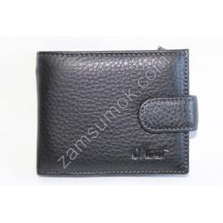 Мужской кошелек с зажимом кожаный Черный 208Т Moro