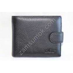Мужской кошелек кожаный Черный 308 Moro