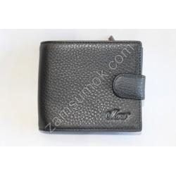 Мужской кошелек кожаный Черный 408 Moro