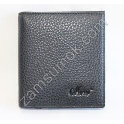 Мужской кошелек без застежка кожаный Черный 508 Moro