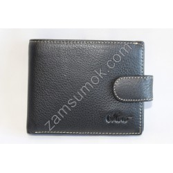Мужской кошелек кожаный Черный 539 Moro