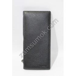 Мужской Купюрник кожаный Черный 20015 Anil