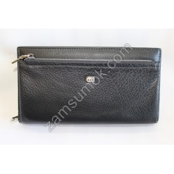 Мужской купюрник кожаный Черный 740 Anil