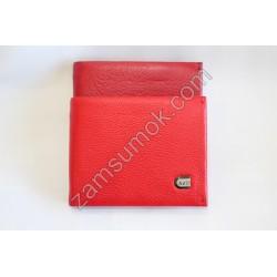 Женский кошелек кожаный Красный 555D Anil