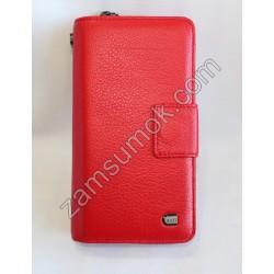 Женская барсетка кожаная Красная 697 Anil