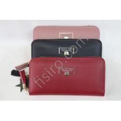 Женский кошелек кожзам Красный F105