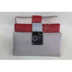 Женский кошелек кожзам Красный 3-6132