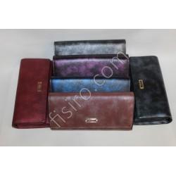 Женский кошелек на магните кожзам Красный 2091