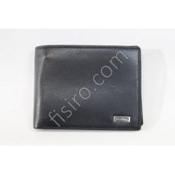 Мужской кошелек кожаный Черный 8508B
