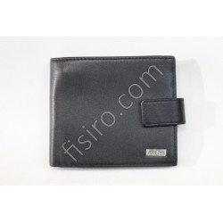 Мужской кошелек кожаный Черный 8513-2
