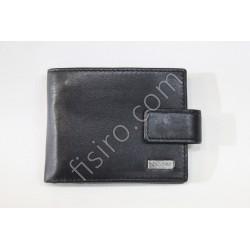 Мужской кошелек кожаный Черный 8538-2