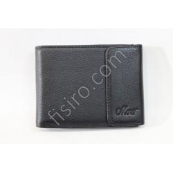 Мужской кошелек кожаный Черный 1-208В Moro