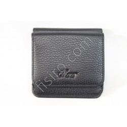 Мужской кошелек кожаный Черный 168-58 Moro
