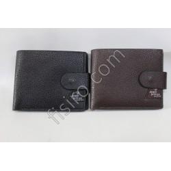 Мужской кошелек кожзам Черный 6641