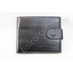 Мужской кошелек кожзам Черный 9196