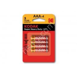 Батарейки KODAK Super Heavy Duty ZINC AAA R03 (4 шт.)