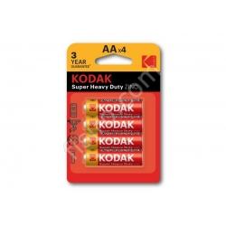 Батарейки в блистере KODAK Super Heavy Duty ZINC AA R6P (4 шт.)