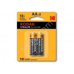 Батарейки KODAK XTRALIFE Alkaline AA LR6 (2 шт.)