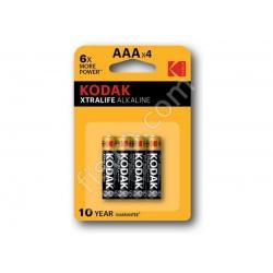 Батарейки KODAK XTRALIFE Alkaline AAA LR03 (4 шт.)